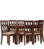 Mukilteo Six Seater Dining Set in Provincial Teak Finish by Woodsworth