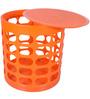 Multi Purpose Stool in Orange Colour by Casa Basic