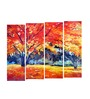 Multiple Frames abstract tree art panels like Painting - 4 Frames