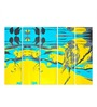 Multiple Frames Printed Abstract Birds Art Panels like Painting - 5 Frames