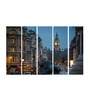 Multiple Frames Printed City Clock Tower Art Panels like Painting - 5 Frames