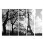 Multiple Frames Printed Eiffel Tower Art Panels like Painting - 5 Frames