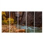 Multiple Frames Printed Mountain Forest River Panels like Painting - 5 Frames