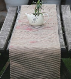 My Gift Booth Beige Cotton Runner