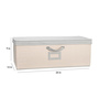 My Gift Booth Appealing Cotton Beige & Grey Storage Box