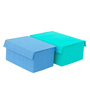 My Gift Booth Blue 20 L Storage Box - Set of 2