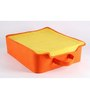 My Gift Booth Orange and Yellow Felt 13 x 5 x 15 Inch Lingerie Clothes Organizer
