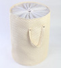 My Gift Booth Leatherette 20 L Off-White Laundry Bag