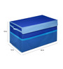 My Gift Booth Non-woven Blue Foldable Storage Trunk
