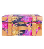 My Gift Booth Poly Dupion & Faux Leather Navy Blue Printed Travel Vanity Box