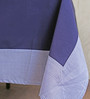My Gift Booth Print Navy Blue Cotton Table Cover