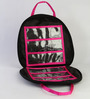 My Gift Booth Quilted Nylon Black & Pink Jewellery Bag