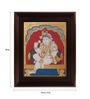Myangadi Multicolour Gold Plated Durbar Krishna Framed Tanjore Painting