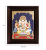 Myangadi Multicolour Gold Plated Ganesha with Books Framed Tanjore Painting