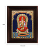 Myangadi Multicolour Gold Plated Kamatchi Devi Framed Tanjore Painting