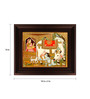 Myangadi Multicolour Gold Plated Krishna with Cow Tanjore Framed Painting