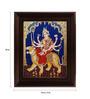 Myangadi Multicolour Gold Plated Mahishasurmardini Framed Tanjore Painting