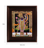 Myangadi Multicolour Gold Plated Krishna Framed Tanjore Painting