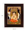 Myangadi Multicolour Gold Plated Ragavendra Framed Tanjore Painting