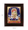 Myangadi Multicolour Gold Plated Sivan Parvathi Framed Tanjore Painting