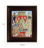 Myangadi Multicolour Gold Plated Vishnu Thirumagal Framed Tanjore Painting