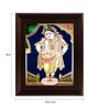 Myangadi Multicolour Gold Plated Vittoba Krishna Plywood & Cloth Framed Tanjore Painting