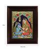Myangadi Multicolour Gold Plated Yasotha Feeding Krishna Tanjore Framed Painting