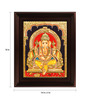 Myangadi Multicolour Gold Plated Dhoti Ganesha Framed Tanjore Painting