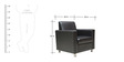 Nano Leatherette Sofa Set (3 + 1 + 1) Seater in Black Colour by Crystal Furnitech