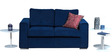 Napa Two Seater Sofa in Blue Colour by Forzza