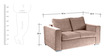 Napa Two Seater Sofa in Standard Light Brown Colour by Forzza