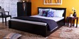 Nashville King Bed with Storage in Espresso Walnut Finish by Woodsworth