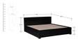 Nashville Queen Bed with storage in Espresso Walnut Finish by Woodsworth