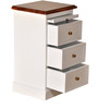 Isabella End Table in Dual Tone Finish by Amberville