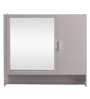Navrang White Acrylic Diana with Rod Wall Cabinet