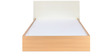 Neo Emily Queen Bed in Ivory & Teak Finish by @home