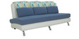 New Berry Three Seater Sofa in Blue Colour by Furnitech