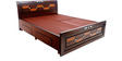 New Rado King Bed with storage in Brown colour by Looking Good Furniture