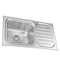 Neeelkanth Montelo 3218 Glossy Stainless Steel Single Bowl Single Drain Sink