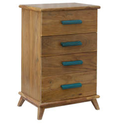 Nest Chest Of Four Drawers In Pale Sheesham Finish By DwellDuo