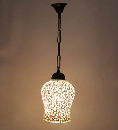 New Era White Glass Hanging Lamp