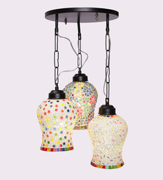 New Era Multicolour Triple Hanging Light