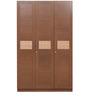 Nebula Three Door Wardrobe in Coffee Brown Colour by HomeTown