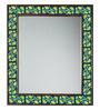 Neerja Multicolour Wood & Ceramic Pottery Mirror