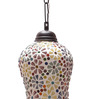 New Era Multicolour Metal & Glass 40W 7 x 4.5 x 21 Inch Hanging Lamp