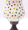 New Era Multicolour Metal & Glass 7 x 4.5 x 10 Inch Table Lamp