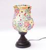 New Era Multicolour Metal & Glass 7 x 4.5 x 10 Inch Table Lamp