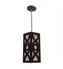 New Era Curvy Patterns Brown Pendant