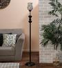 New Era White and Gold Glass Floor Lamp