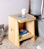 Nexo Wireless Charging End Table in Natural Finish by Woodsworth